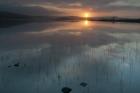 Sunrise over Benston Loch, Shetland