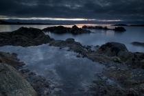 Moody Shetland sky