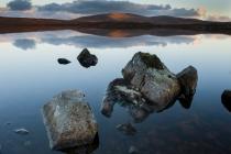 Reflections in Shetland lochan