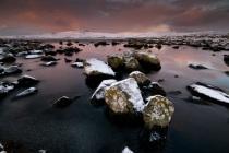 Shetland lochan mid winter