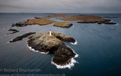 Shetland Islands, Muckle Roe, Shetland from the air, Photographing Shetland Islands