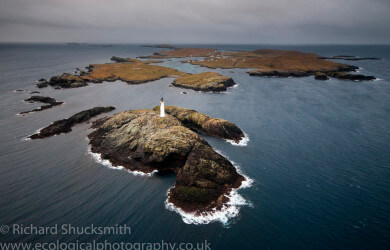 Shetland Islands, Muckle Roe, Shetland from the air, Photographing Shetland Islands